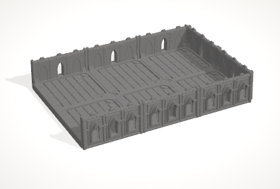 6mm 3x2 Gothic With 3 Side Barricades