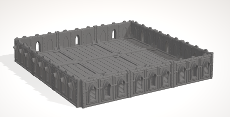 6mm 3x3 Gothic With 4 Side Barricades