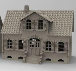 Workers House - OTP Terrain & Miniatures Off The Print Gaming