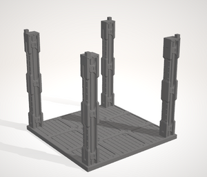 6mm 3x3 Support For Roof with pegs
