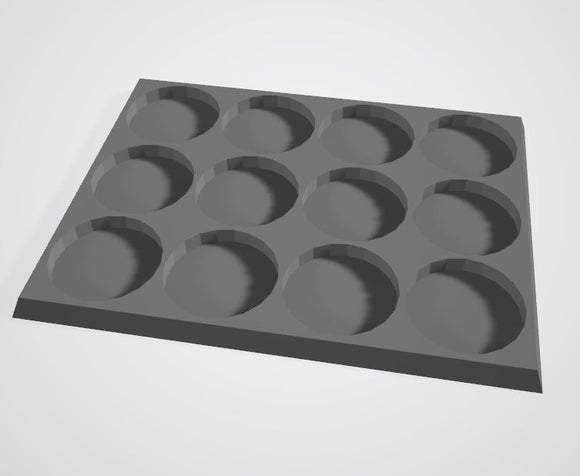 Set of 2 (32mm bases 3x4 12 Man Movement Tray)