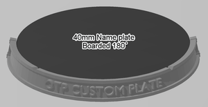 40mm 180° Bordered Name Plate