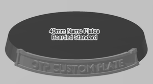 40mm Standard Bordered Name Plate