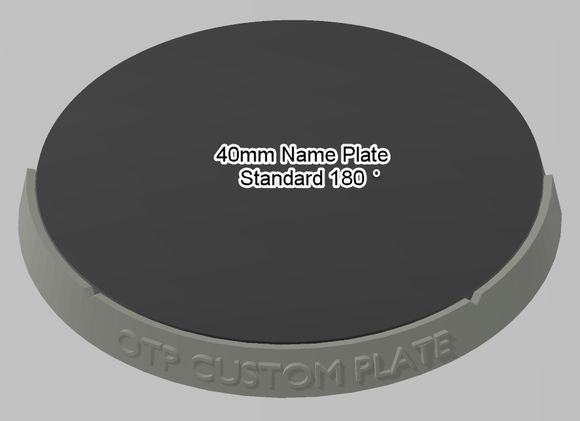 40mm 180° Plain Name Plate