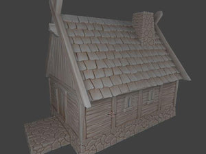Small Viking House With Chimeny