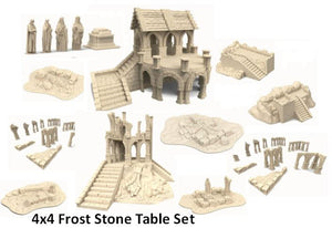 "Frost Stone 4x4"" Table Set"