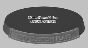 50mm Standard Bordered Name Plate - OTP Terrain & Miniatures Off The Print Gaming
