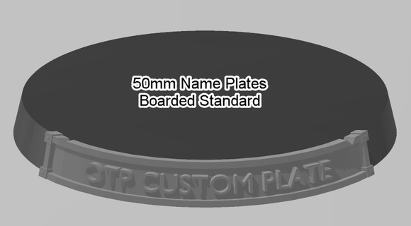 50mm Standard Bordered Name Plate