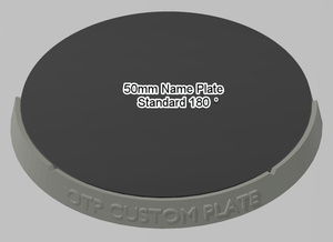 50mm 180° Plain Name Plate