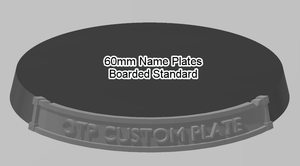 60mm Standard Bordered Name Plate