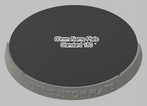 60mm 180° Plain Name Plate