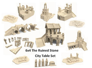 "The Ruined Stone City 6x4"" Table Set"
