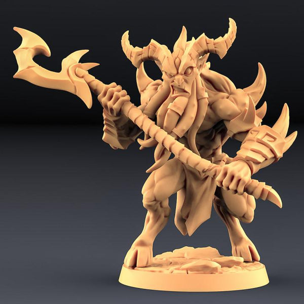 Abyss Demon Guardian - A - OTP Terrain & Miniatures Off The Print Gaming