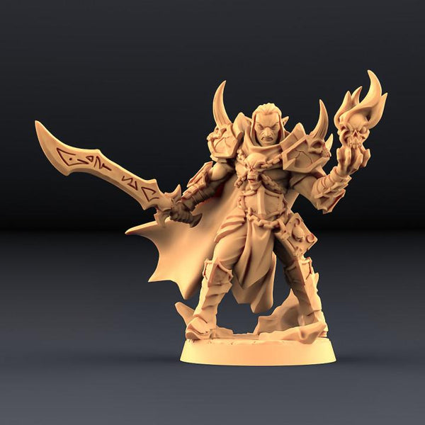 Ildamos Half Blood - Abyss Demon Hero (Hidden Form) - OTP Terrain & Miniatures Off The Print Gaming