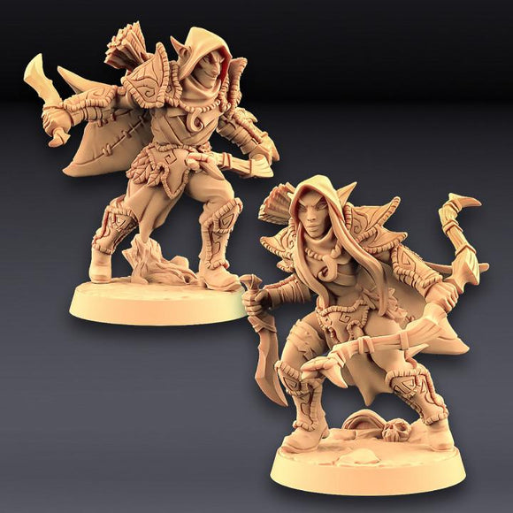 Deepwood Alfar - 2 Modular Rogues - OTP Terrain & Miniatures Off The Print Gaming