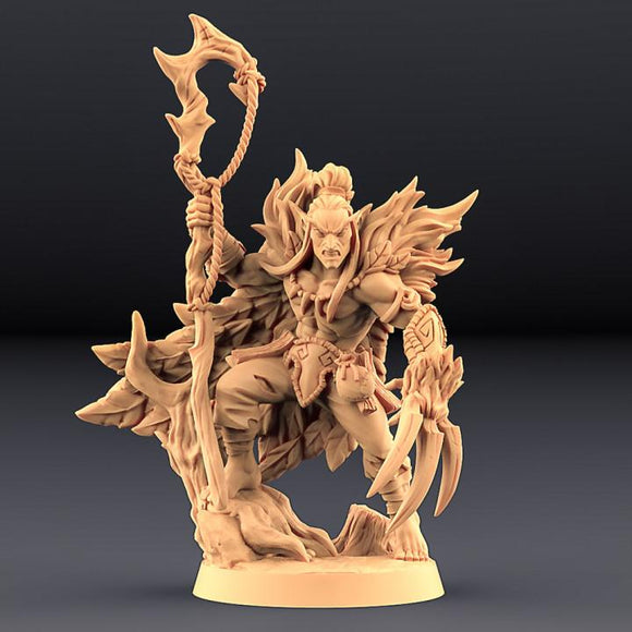 Uldar the Shapeshifter - Deepwood Alfar Hero B - OTP Terrain & Miniatures Off The Print Gaming
