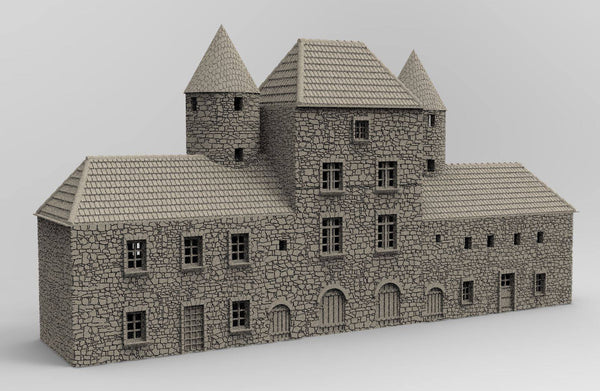 Chateau Saint Marie Du Mont - OTP Terrain & Miniatures Off The Print Gaming