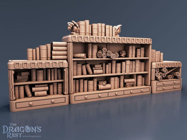 Book Case Set - OTP Terrain & Miniatures Off The Print Gaming
