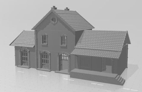 Little French Train Station 15mm