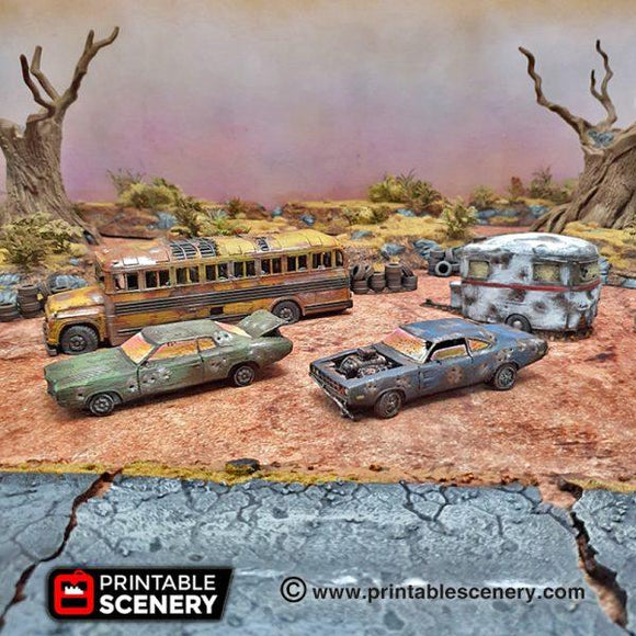 Abandoned Vehicles - OTP Terrain & Miniatures Off The Print Gaming