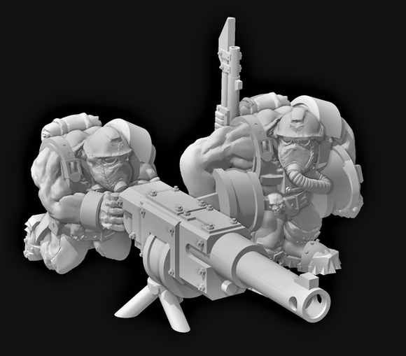 Broozer Guard Heavy Weapon Auto Team - OTP Terrain & Miniatures Off The Print Gaming
