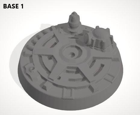 Set of 10 x 50mm Bases-[40KTerrain]-[Fantasyterrain]-[3DPrintedTerrain]-[Wargaming]-[Tabletopgaming]-OTP Terrain Off The Print Gaming