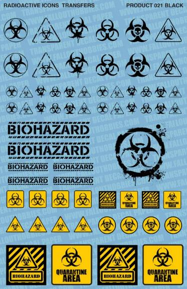 Biohazard Black/Colour - OTP Terrain & Miniatures Off The Print Gaming