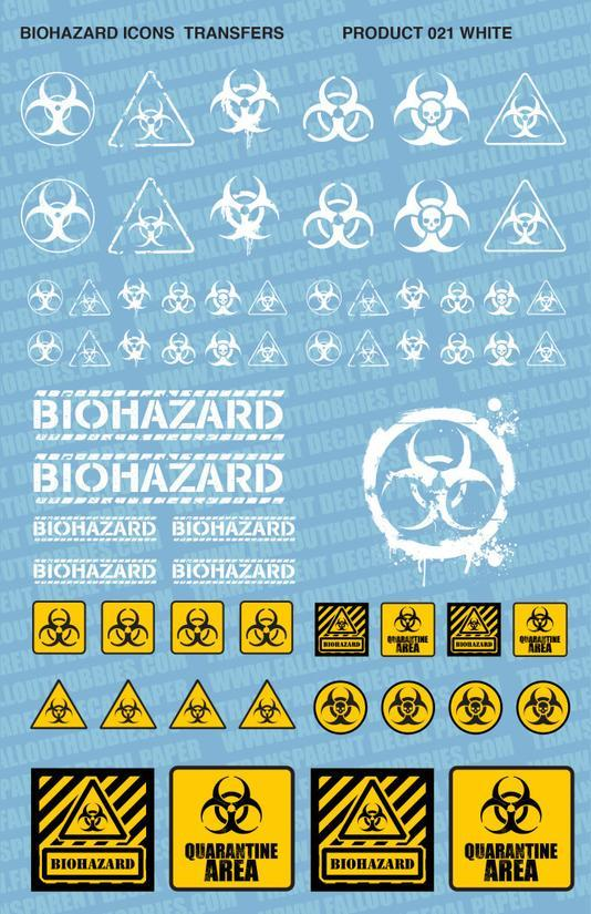 Biohazard White/Colour - OTP Terrain & Miniatures Off The Print Gaming
