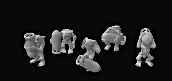 Goblin Bomber Crew x 5 - OTP Terrain & Miniatures Off The Print Gaming