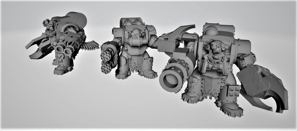 Armored Broozers x3-A - OTP Terrain & Miniatures Off The Print Gaming