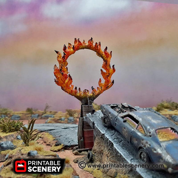 Burning Ring Of Fire - OTP Terrain & Miniatures Off The Print Gaming