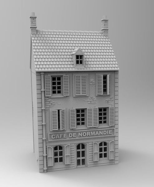 Cafe De Normandy - 1/56 or 28mm - 1/72 or 20mm - 1/100 or 15mm