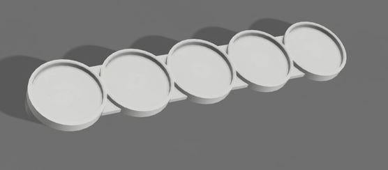 Set of 5 (25mm bases 5 Man Movement Tray)