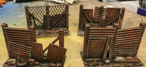 Urban Post-Apocalyptic Fence Barriers