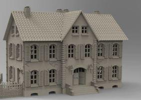 """Gasthaus"" (Restaurant/Hotel) with out annex - OTP Terrain & Miniatures Off The Print Gaming"