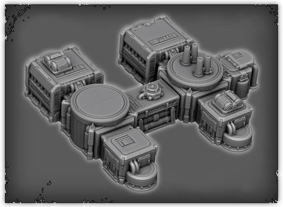 Chemical Plant - OTP Terrain & Miniatures Off The Print Gaming