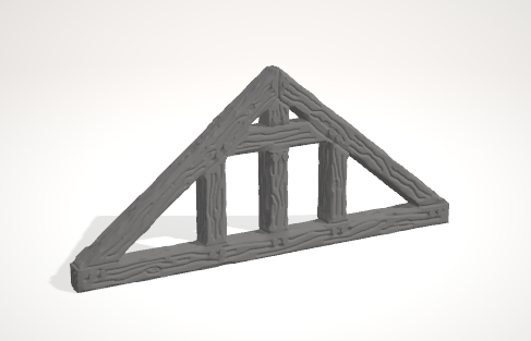 Set of 5 Ulvheim Roof Truss's-[40KTerrain]-[Fantasyterrain]-[3DPrintedTerrain]-[Wargaming]-[Tabletopgaming]-OTP Terrain Off The Print Gaming