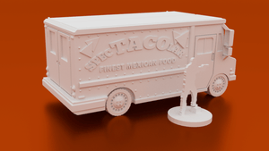 Urban Taco Or Pizza Truck - OTP Terrain & Miniatures Off The Print Gaming