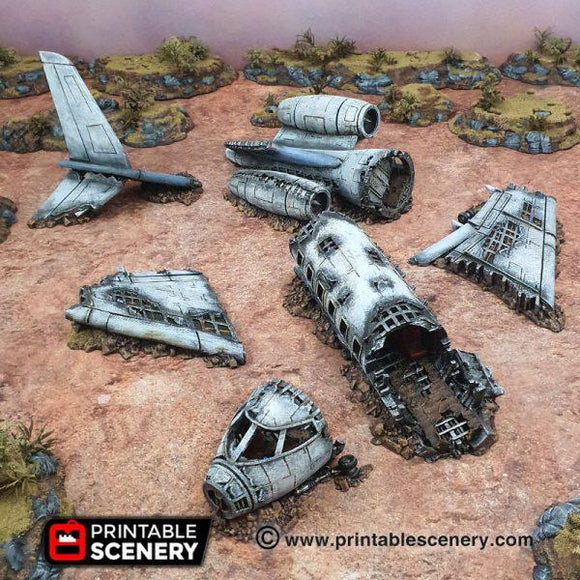 Crashed Aircraft - OTP Terrain & Miniatures Off The Print Gaming