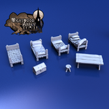 "Wightwood Abbey 3""x3"" Core Set Bundle & Furniture"