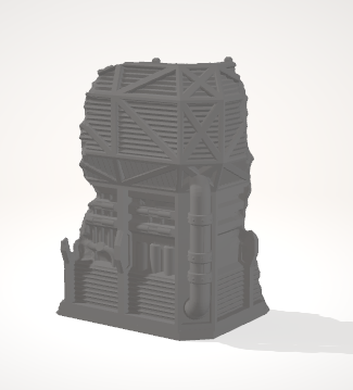 Damaged Tower B-[40KTerrain]-[Fantasyterrain]-[3DPrintedTerrain]-[Wargaming]-[Tabletopgaming]-OTP Terrain Off The Print Gaming