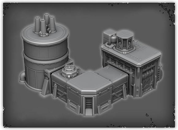 Fuel Storage Hub - OTP Terrain & Miniatures Off The Print Gaming