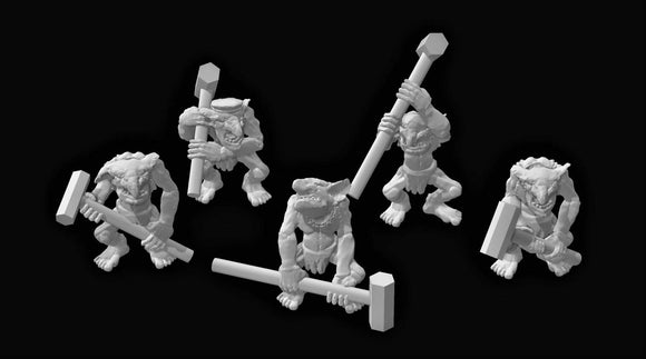 Goblin Hammer Crew x 5 - OTP Terrain & Miniatures Off The Print Gaming