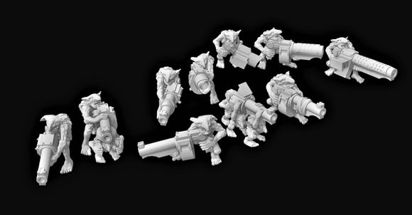 Goblin Gunners x10-C - OTP Terrain & Miniatures Off The Print Gaming