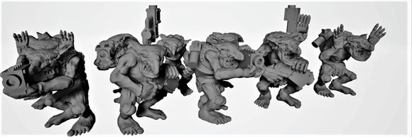 Goblin Gunners x10-B - OTP Terrain & Miniatures Off The Print Gaming
