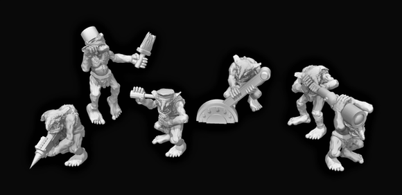 Goblin Crew x5-B - OTP Terrain & Miniatures Off The Print Gaming