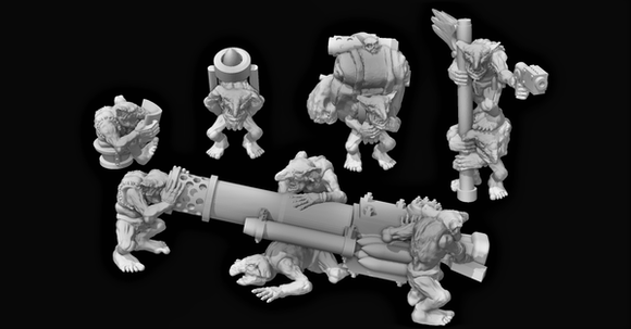 Goblin Crew C - OTP Terrain & Miniatures Off The Print Gaming