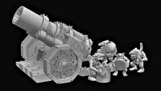 Goblin Artillery Cannon - OTP Terrain & Miniatures Off The Print Gaming
