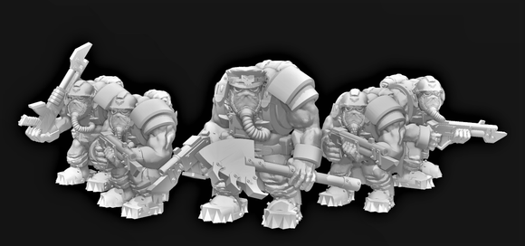 Broozer Guard Troopas x5 (A) - OTP Terrain & Miniatures Off The Print Gaming