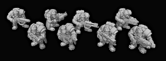 Broozer Guard Special Weapons x8 (2 of each weapon) - OTP Terrain & Miniatures Off The Print Gaming